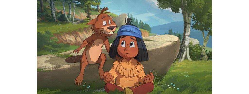 Yakari et Tilleul, le jeune castor. ©Bac Films