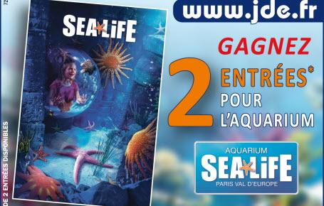 """Gagnez des entrées pour l'aquarium """"Sea Life"""" à Paris"""