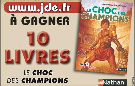 """Gagnez des livres """"Le choc des champions"""""""