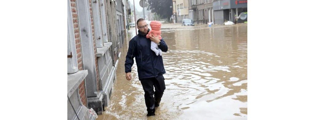 Dans la ville belge de Hognoul. (Photo AFP)