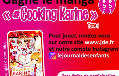 """Les gagnants du jeu """" #Cooking Karine tome 1"""""""