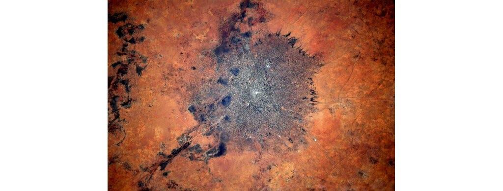 Toujours au Soudan, voici une photographie d'une partie du Darfour, une région désertique située à l'ouest du pays.