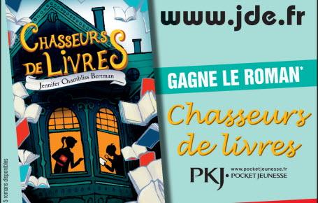 """Les gagnants du roman """"Chasseurs de livres"""""""