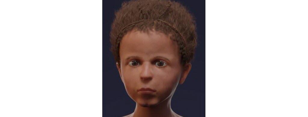 Le visage d'une momie en 3D