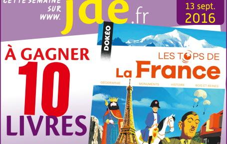 """Gagnez des livres """"Les tops de la France"""""""