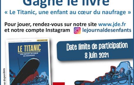 """Les gagnants du jeu """"Le Titanic, une enfant au coeur du naufrage"""""""