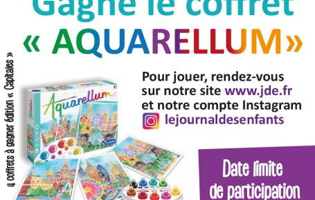 """Gagne le coffret """"Aquarellum"""" édition Capitales"""