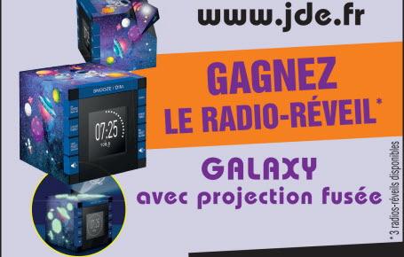 Les gagnants pour le radio-réveil Galaxy avec projection fusée
