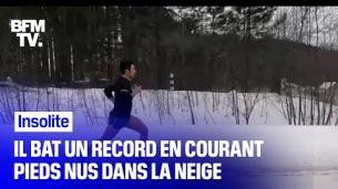 Un record battu pieds nus
