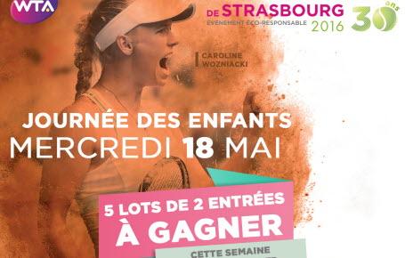 """Gagnez des places pour la journée des enfants aux  """"Internationaux de Strasbourg"""""""