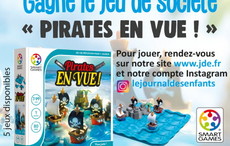 """Gagne le jeu de société """"Pirates en vue !"""""""