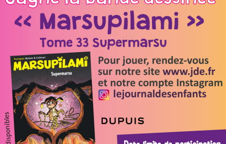 "Gagne la bande dessinée ""Marsupilami"" tome 33 Supermarsu"