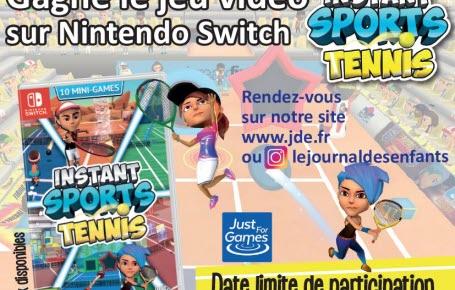 """Gagne le jeu vidéo """"Instant Sports Tennis"""