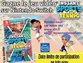 """Les gagnants du jeu """"Instant Sports Tennis"""