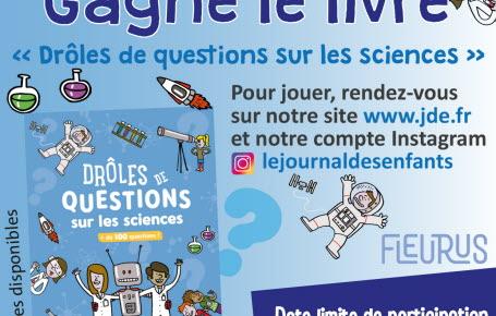 """Les gagnants du jeu """"Drôles de questions sur les sciences"""""""