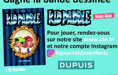 "Les gagnants du jeu ""Kid Paddle"" tome 16"