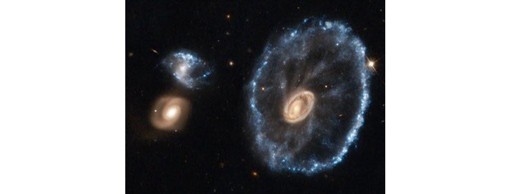 La galaxie de la roue de Charette. (NASA/ESA)