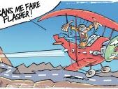 Il traverse 2 tunnels... en avion!