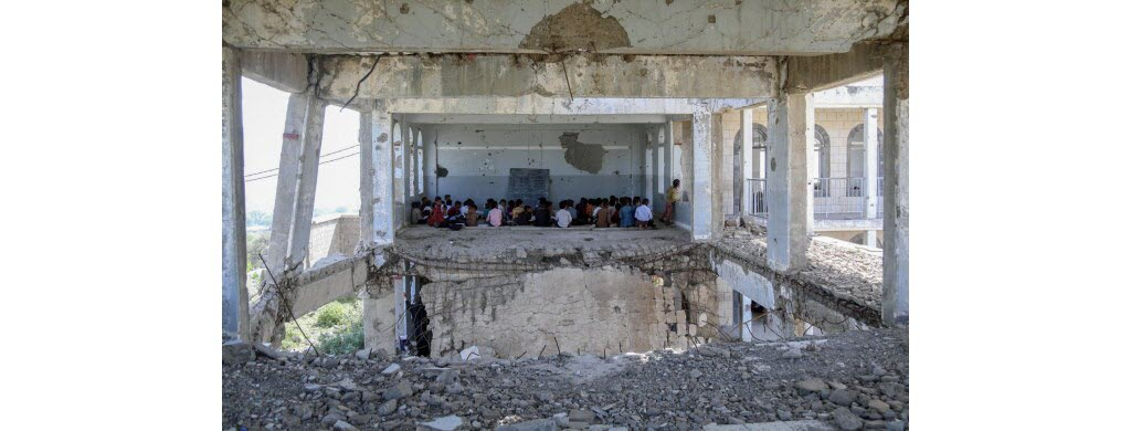 Sur les 7 millions d'enfants en âge d'aller à l'école dans le pays, seuls 2 millions vont en cours.