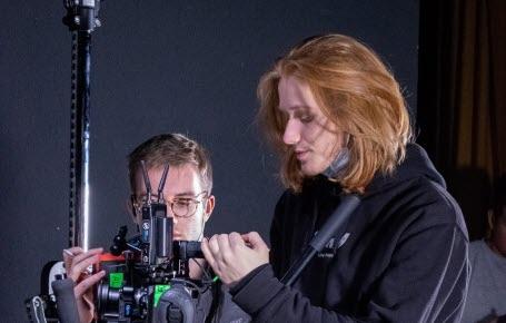 19 étudiants en cinéma ont participé à la réalisation de Mon rêve étoilé. Chacun avait un rôle bien défini : réalisateur, preneur de son, cadreur…