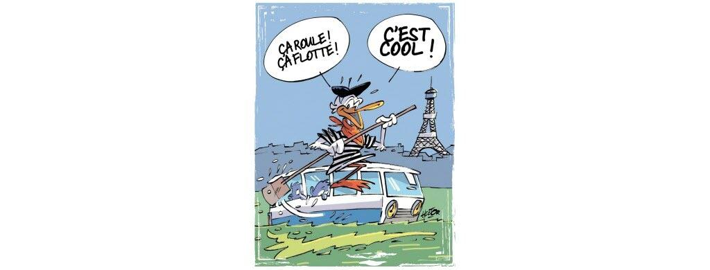À bord de « Marcel le Canard »