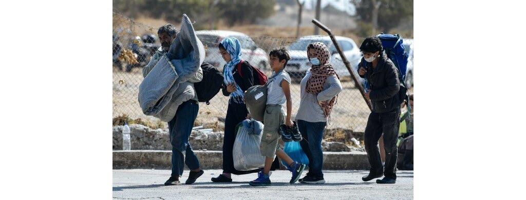 Ces réfugiés ont pu sauver quelques affaires. C'est tout ce qu'ils possèdent.