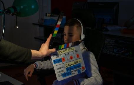 Comme Maëlyss, les autres enfants du village Action Enfance de Bar-le-Duc ont pu découvrir le métier d'acteur et comprendre comment les films sont fabriqués.