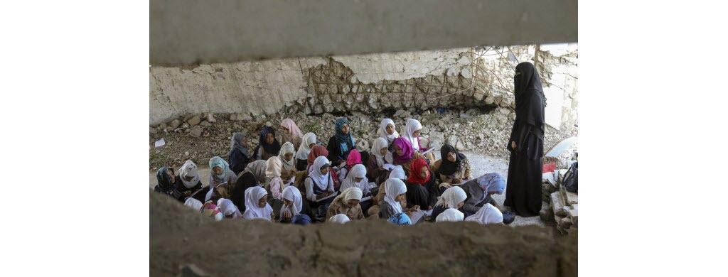 Dans la région, 47 écoles ont été détruites totalement par des combats.