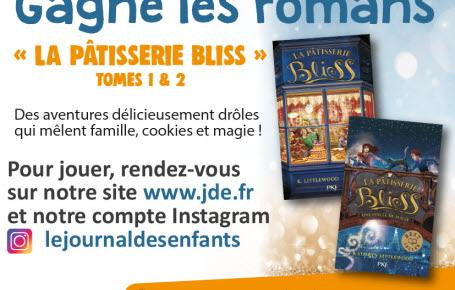 """Les gagnants du jeu """"La Pâtisserie Bliss"""" tomes 1 et 2"""