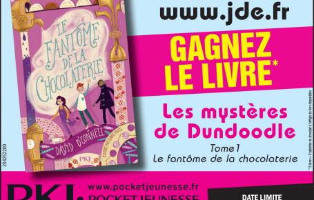 """Les gagnants pour le livre """"Les mystères de Dundoodle, le fantôme de la chocolaterie"""""""