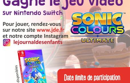 """Gagne le jeu vidéo """"Sonic Colours Ultimate"""""""