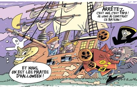 Un bateau de pirates géant pour Halloween