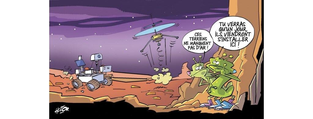 Il y a de l'action sur Mars!