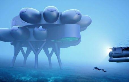 Une maison-labo sous l'océan