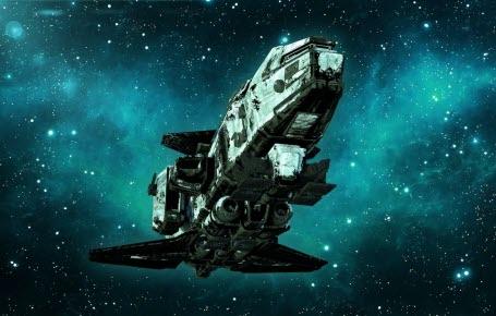 Un vaisseau spatial géant