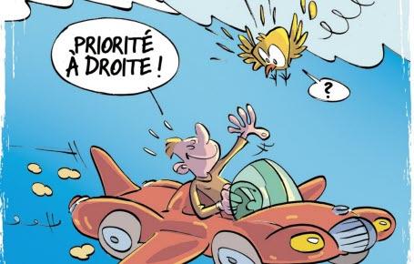 À bord de la voiture volante