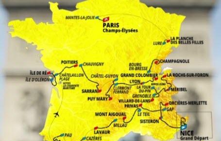 Cyclisme : les étapes du Tour de France 2020