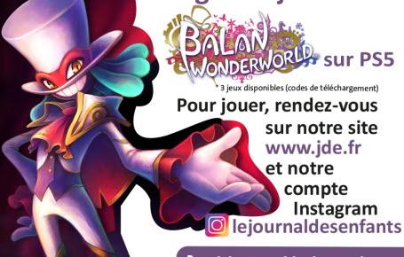 """Les gagnants du jeu vidéo """"Balan Wonderworld"""" sur PS5"""