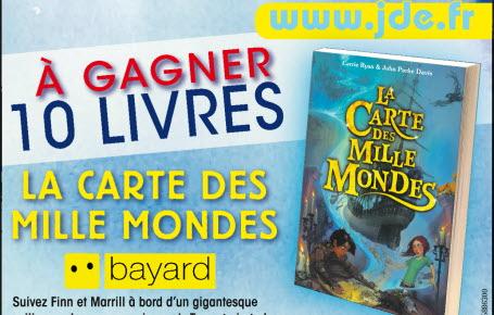 """Gagnez des livres """"La carte des mille mondes"""""""