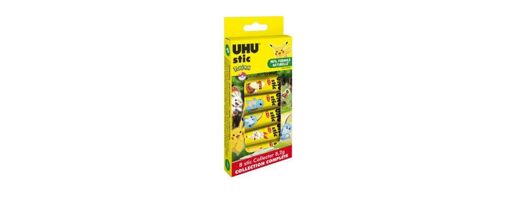 Le stic de colle UHU a une formule à 98 % naturelle et ne contient pas de solvant (un produit chimique). Pour cette rentrée, un nouvel emballage sans plastique, entièrement en carton, a été créé.